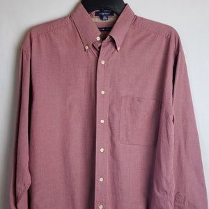 Tommy Hilfiger Red Checked Shirt Sz 15.5